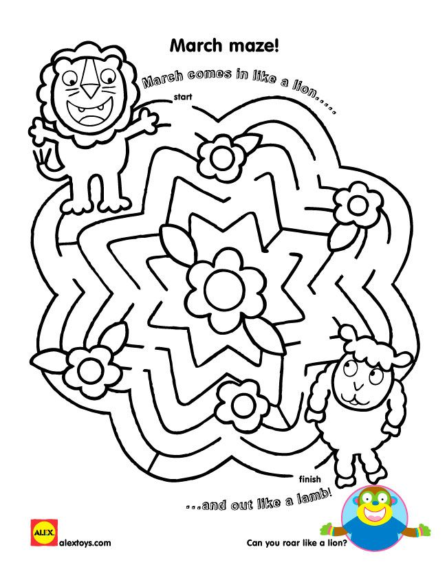 March Lion And Lamb Printable Lion Lamb March Crafts Lion Craft