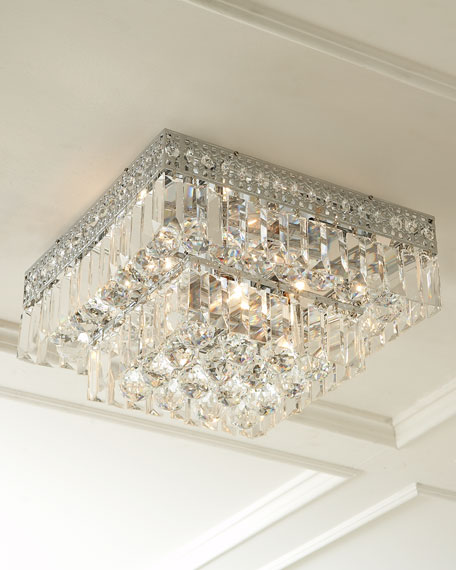 Five Light Crystal Flush Mount Ceiling Fixture With Images