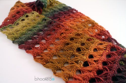 Broomstick Lace Infinity Scarf Free Crochet Pattern From