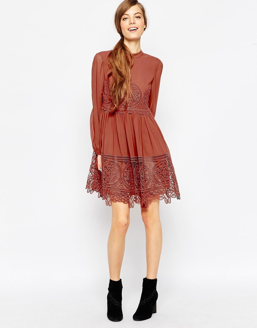 ASOS Lace Babydoll Swing Dress...perfect semi-casual dress | Dream ...
