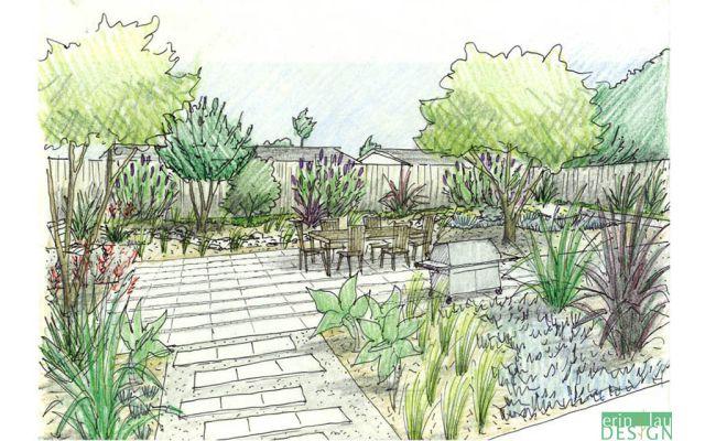 xeriscape_design_sketch | Deck and Patio Ideas | Garden ...