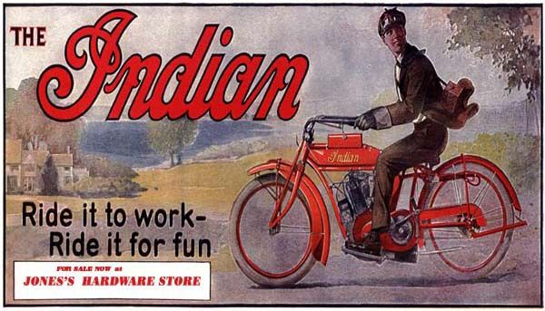 1914 Indian Motorcycle Billboard Store Sign Poster Art Kemmy S