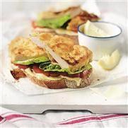 Chicken schnitzel open sandwiches