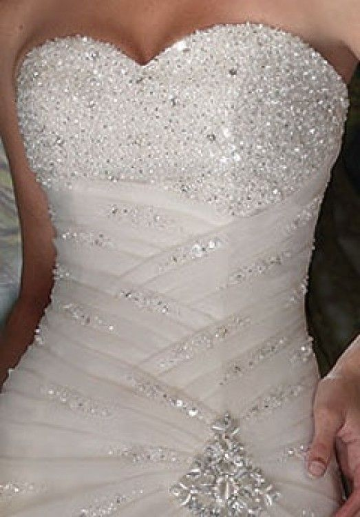 White Bridesmaid Dresses with Bling