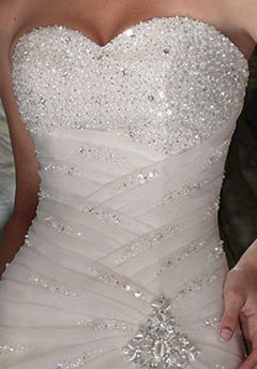 Bling corset wedding dress | marriage | Pinterest | Beading ...