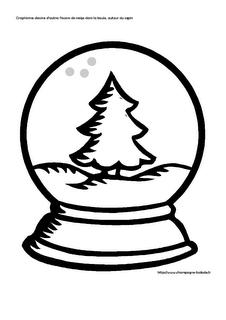 Graphisme: le rond en petite section, boule à neige, sapin