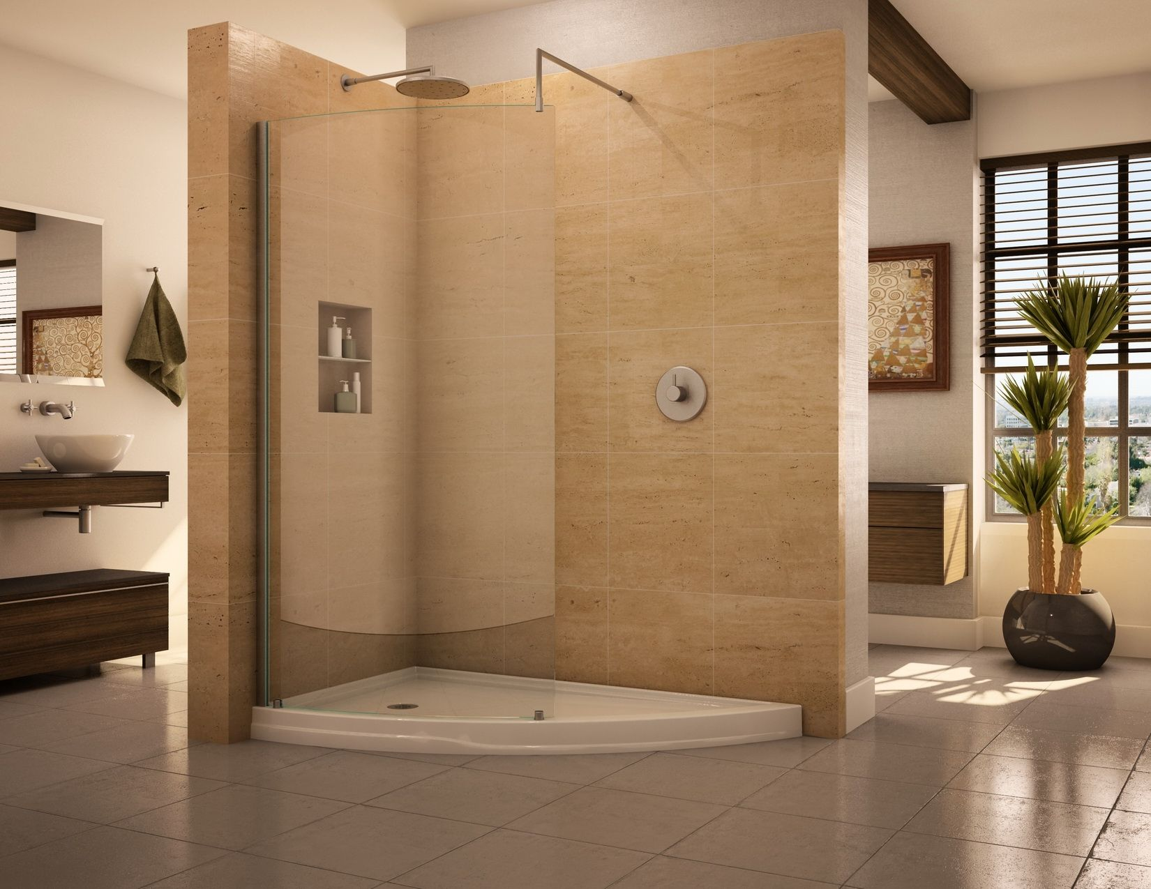Doorless Shower Designs Teach You How To Go With The Flow | Open ...