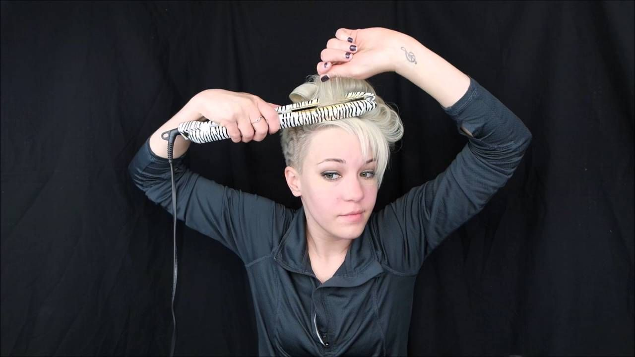 Jay leigh curly mohawk tutorial short hair youtube pixie
