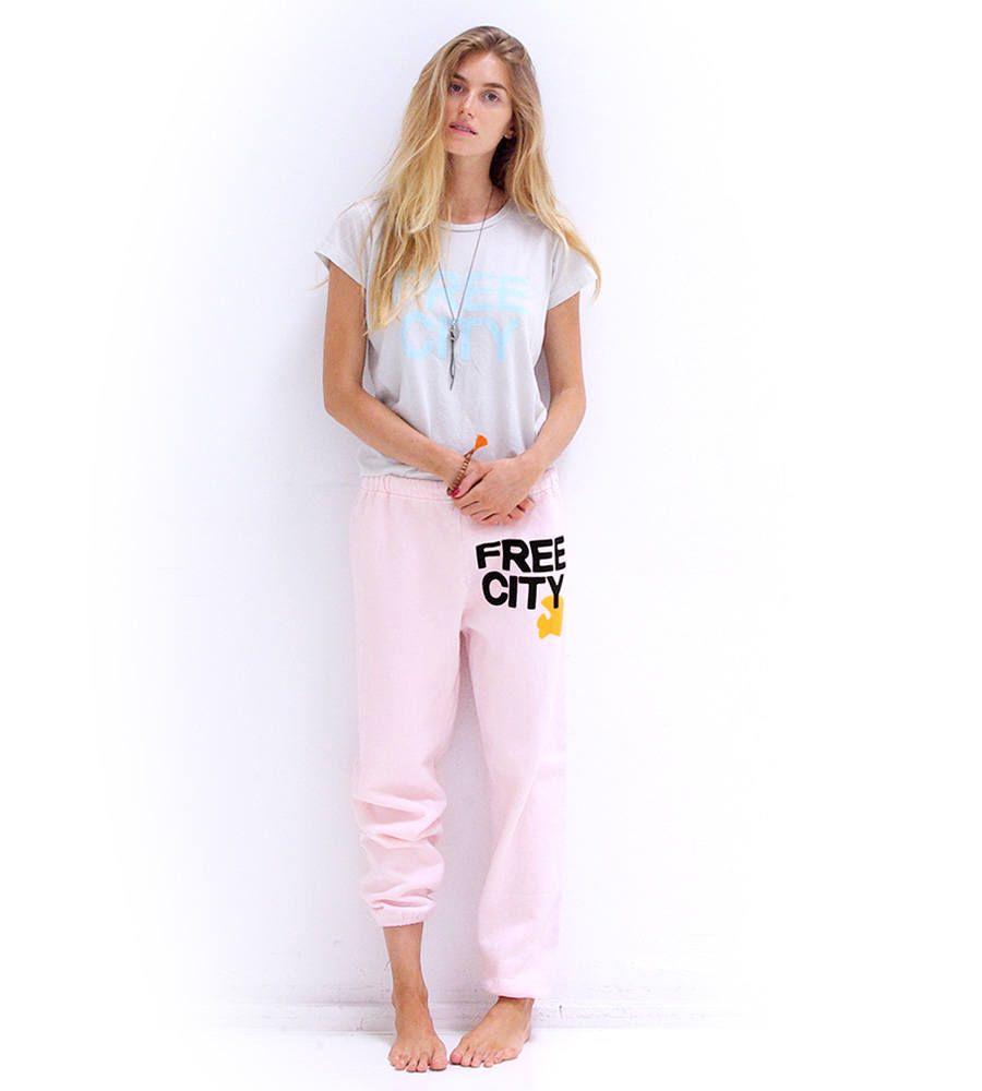 Freecity Sweatpant Pinkgold Fashion Sweatpants Style