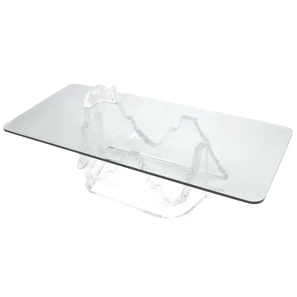 For Sale On 1stdibs Unusual Lucite And Glass Top Coffee Table In Form Of An Iceberg Or Melting Glacier Attr In 2020 Coffee Table Glass Top Coffee Table Modern Glass [ 960 x 960 Pixel ]