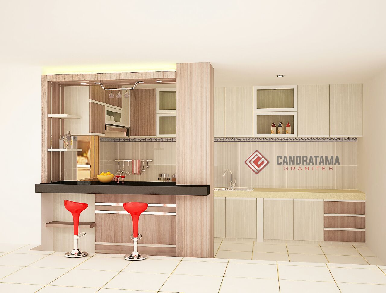 Kitchen Set Mni Bar Minimalis Di 2020 Mini Bars Interior Desain Interior Rumah