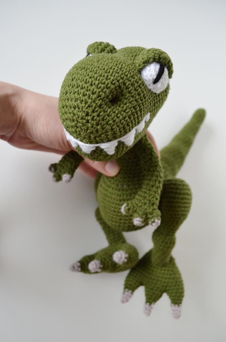 crochet pdf dinosaur pattern amigurumu dino pettern
