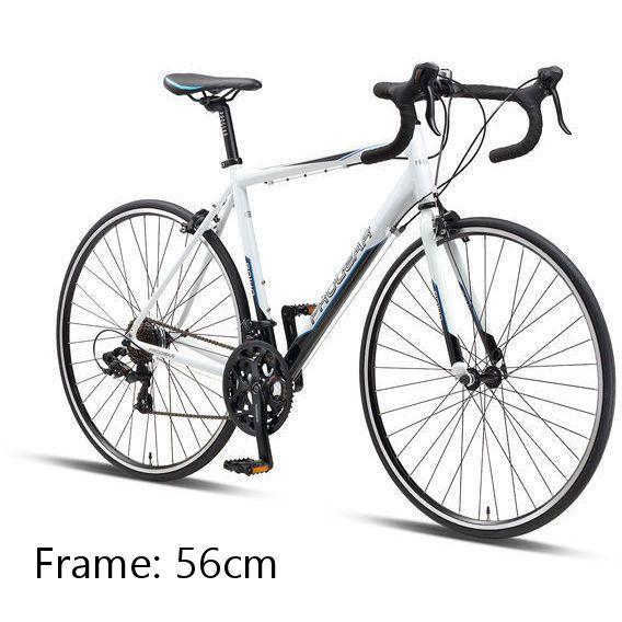 Rd 140 700c Road Bike 56cm Steel Frame In White Bike Steel Frame Road Bike