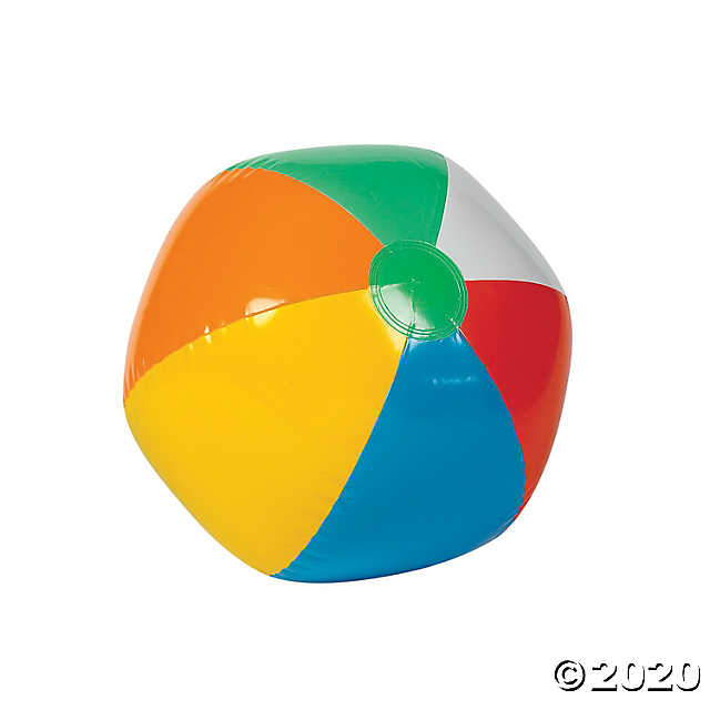 Inflatable 12 Beach Ball Beach Party Games Oriental Trading