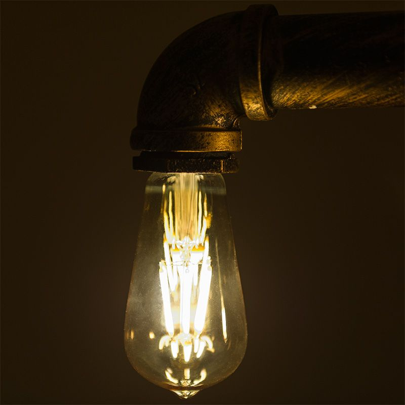 Led Vintage Light Bulb Gold Tint St18 Shape Edison Style Antique With Filament