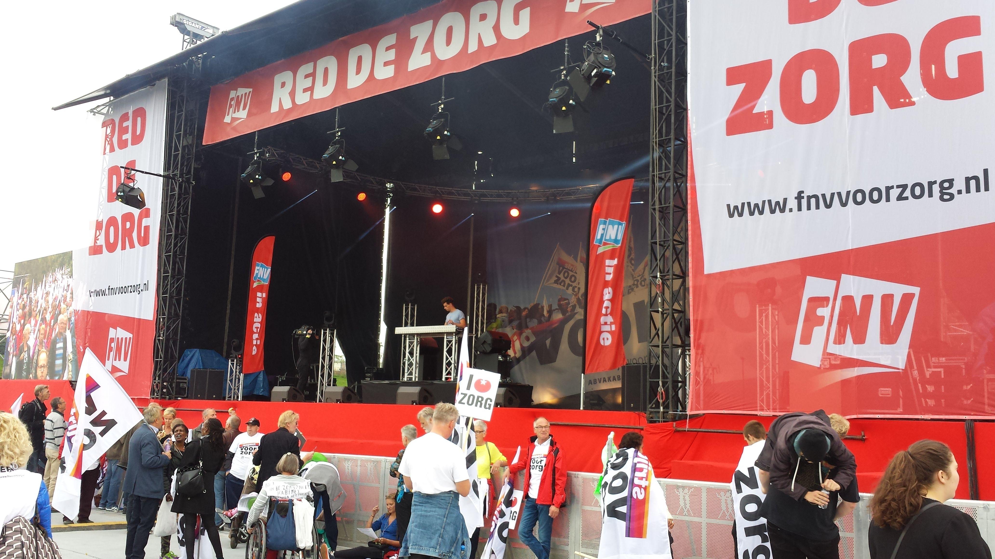 FNV demonstratie 'Red de Zorg' 12/09/2015