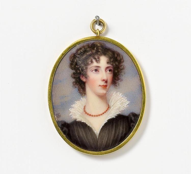 Miniatur Porträt einer Dame