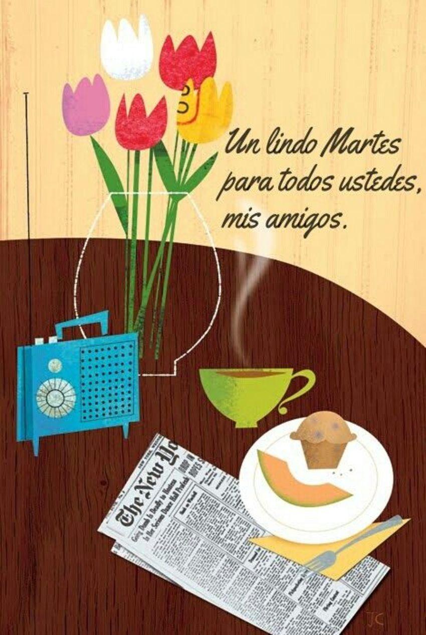 Bellas Imagenes Feliz Martes Hermosas Whatsapp | Tea art, Illustration  food, Artist