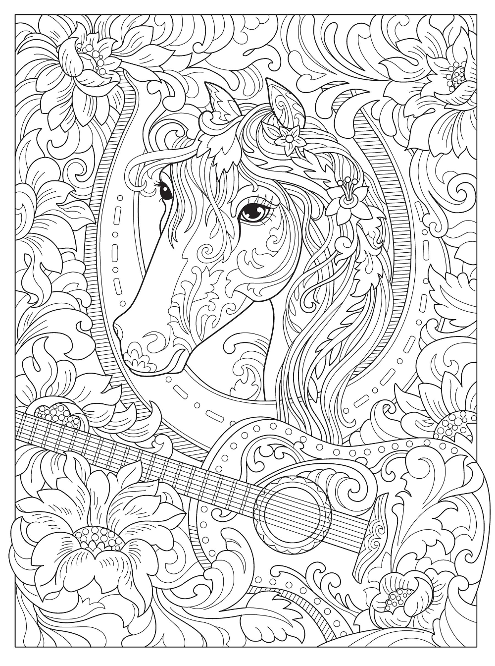 Amazon Com Creative Haven Dream Horses Coloring Book Creative Haven Coloring Books 9780486828558 Horse Coloring Books Coloring Books Animal Coloring Pages