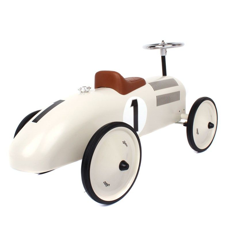 Vilac Cream Ride On Classic Car | AlexandAlexa | Ride on
