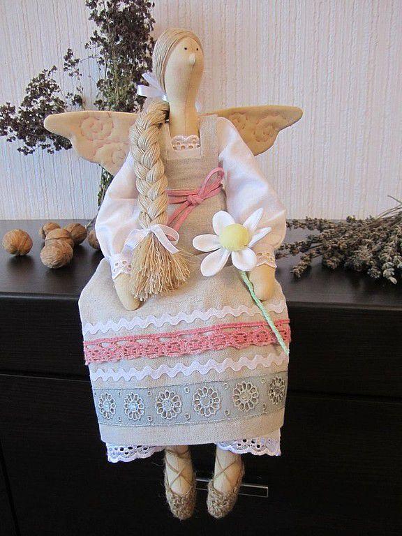 Купить Феечка Олеся - тильда, текстильная кукла, феечка, оригинальный подарок, хлопок, лён