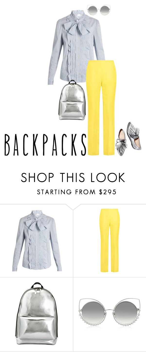 """backpacks"" by lila77 ❤ liked on Polyvore featuring RED Valentino, Delpozo, Loeffler Randall, 3.1 Phillip Lim and Marc Jacobs"