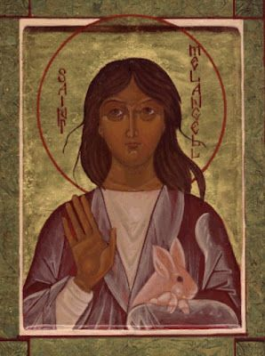 ( - p.mc.n.) St. Melangell. Patron saint of rabbits, hares, small animals and the natural environment.
