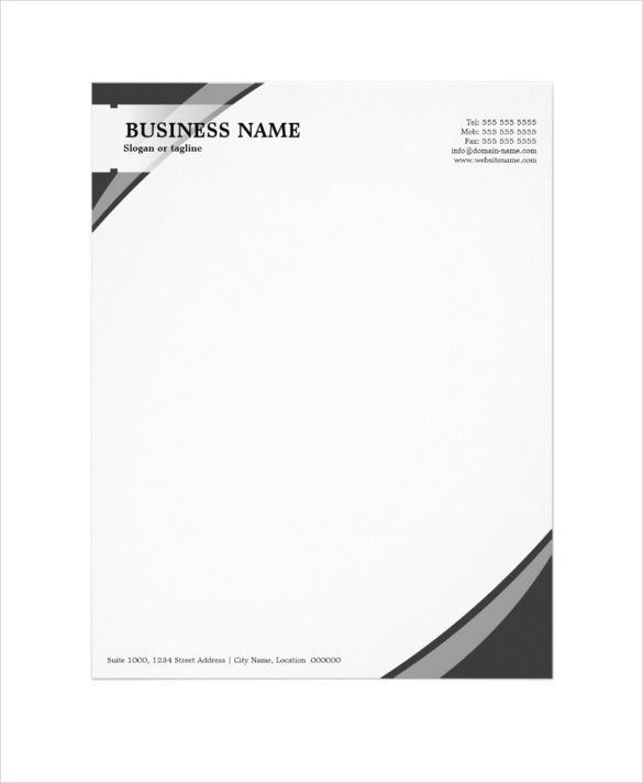 letterhead professional business grey template download company - letterhead format word