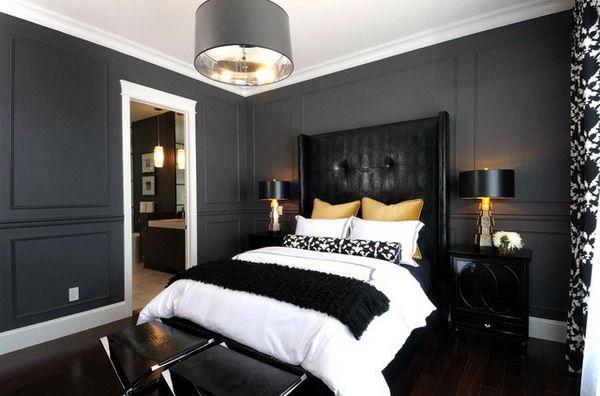 Black Wall Paint black walls in bedroom | modelismo-hld