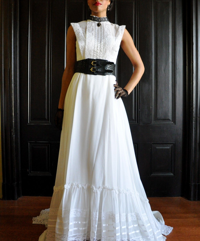 Vintage black wedding dresses  Vintage wedding dress from Etsy with black steampunk accessories