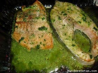 Salmon a la mostaza verde y miel