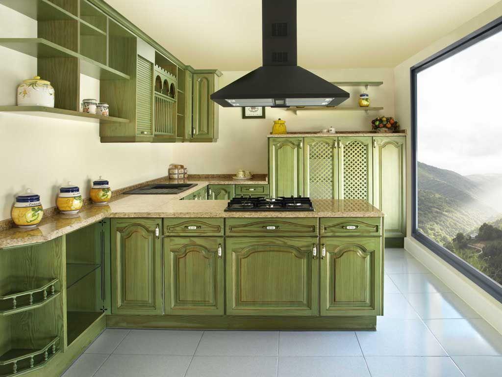 Para los clásicos y atrevidos, este estilo de cocina con muebles en ...