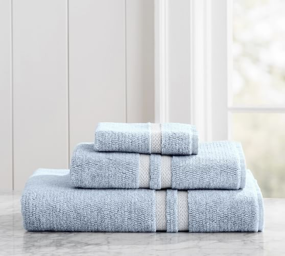 Hydrocotton Bath Towels Amusing Heathered Hydrocotton Bath Towel  Chambray  House Baths Decorating Inspiration