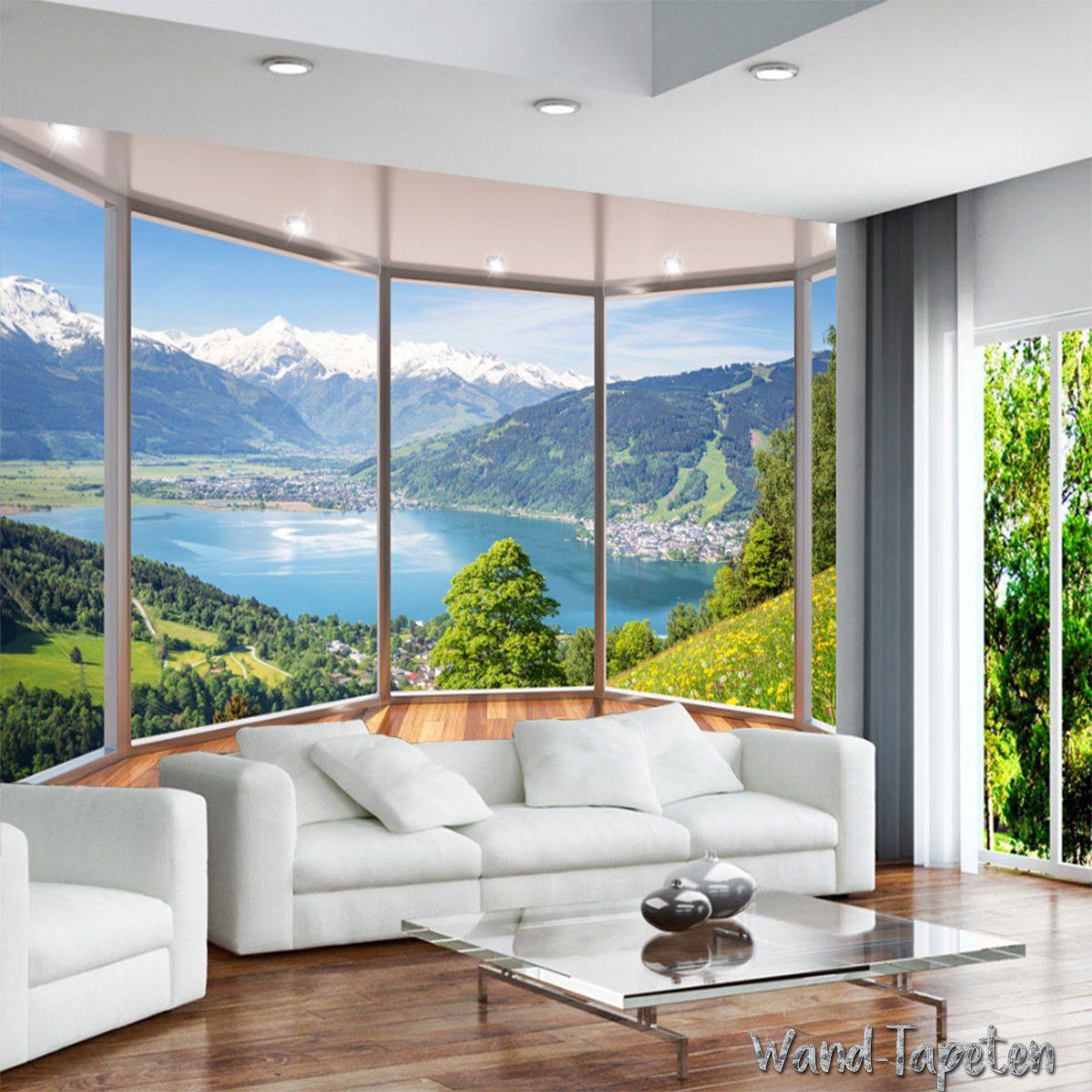 Vlies Fototapeten Wandtapeten Wandbilder 3d Balkon Fenster Landschaft Kn 1942 Wandtapeten Tapeten Wandbilder