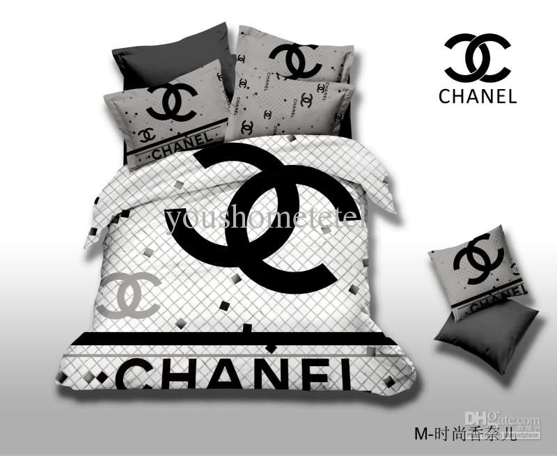 Wholesale Bed In A Bag Buy Brand Name Logo Printed Black And