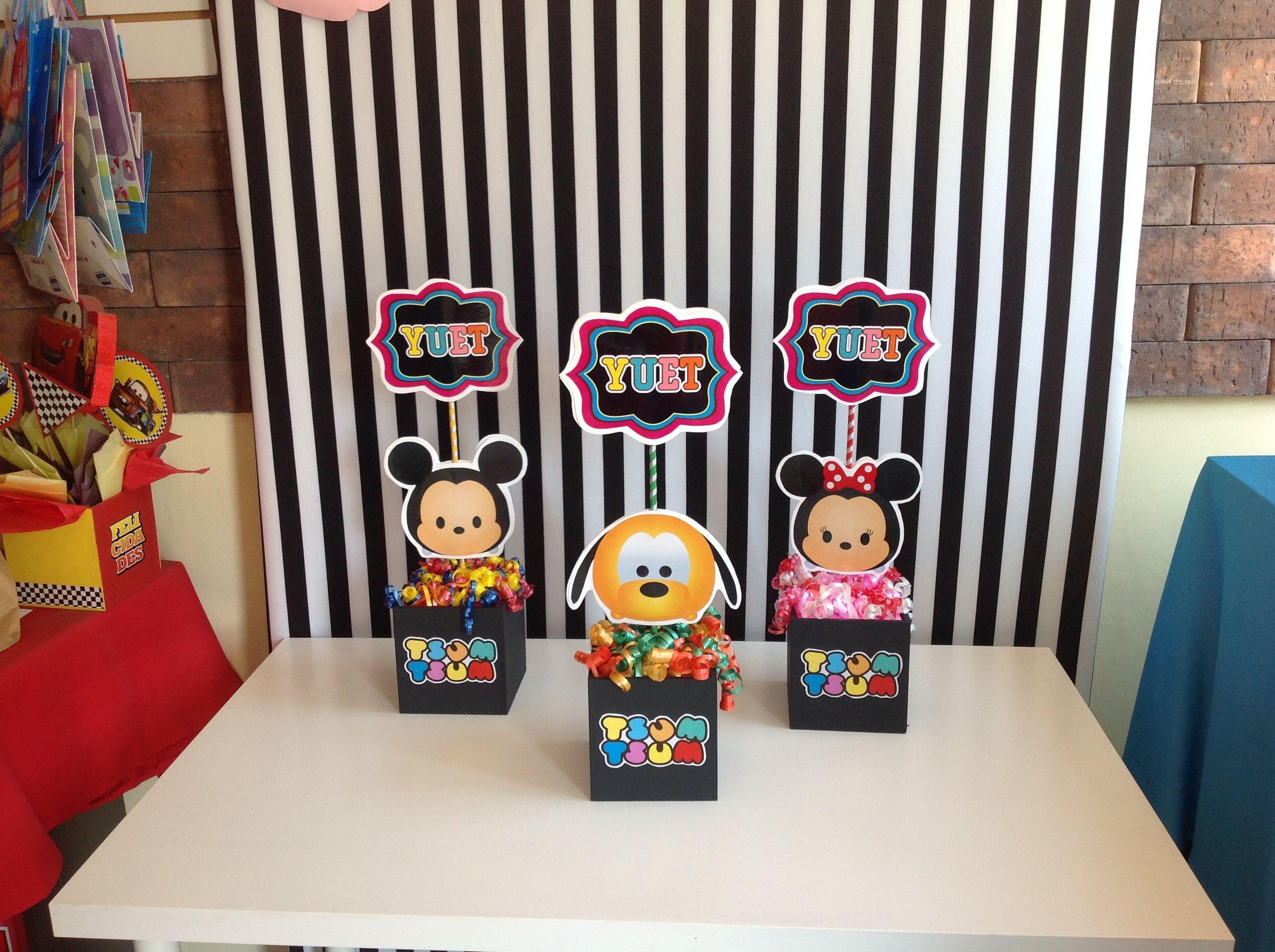 Tsum Tsum Ideas Para Fiestas: Bonitos Centros De Mesa Tema Tsum Tsum