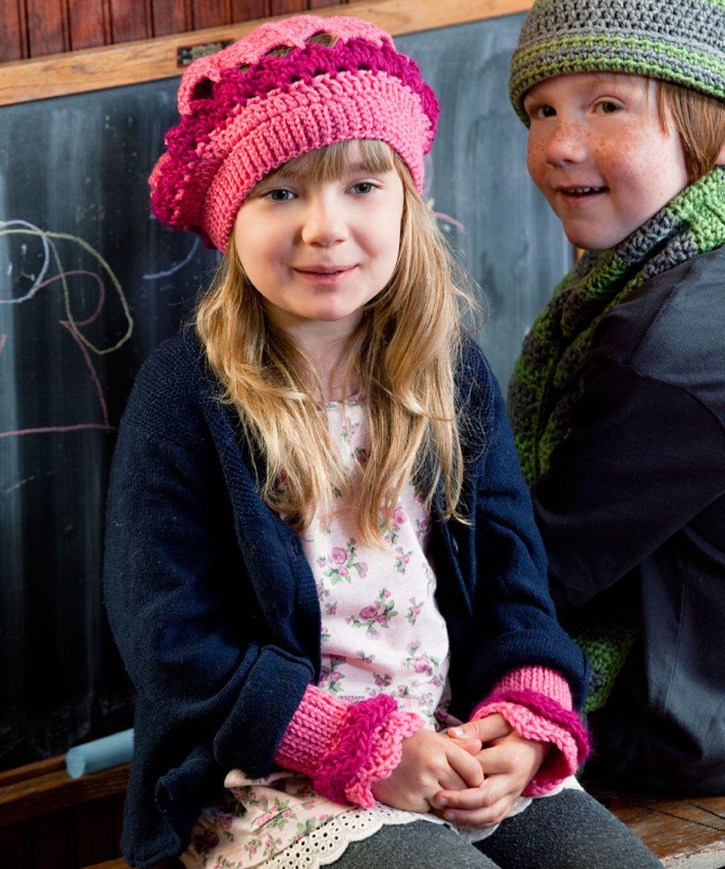Little girls beret and wristers crochet pattern httpwww little girls beret and wristers crochet pattern httpredheart bankloansurffo Gallery