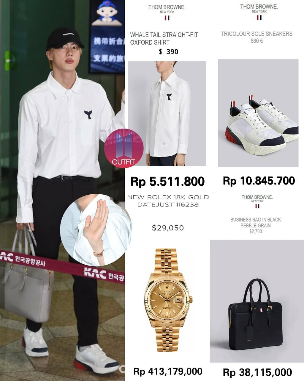 Bts Outfit Fashion Related Di Instagram Gue Heran Kenapa Seokjin Pake Nya Yang Murah Murah Mulu Bts Clothing Bts Inspired Outfits Korean Fashion Men