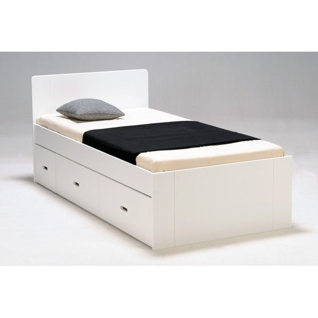lit 1 personne ikea bois blanc tres bon etat 90x200. Black Bedroom Furniture Sets. Home Design Ideas