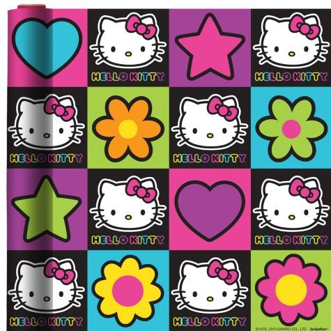 Neon Hello Kitty Gift Wrap 8ft - Party City Canada | hello kitty