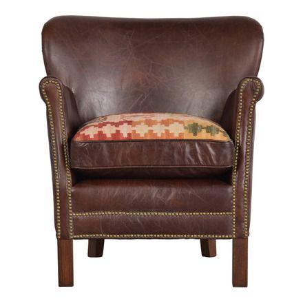 Butaca de piel con asiento reversible Devon | Devon, Butacas y Piel