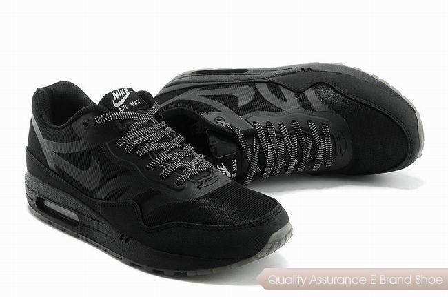 d1eb8c1a67e3 ... official store nike air max 1 prm tape unisex all black sports shoes p  2273 7845b ...