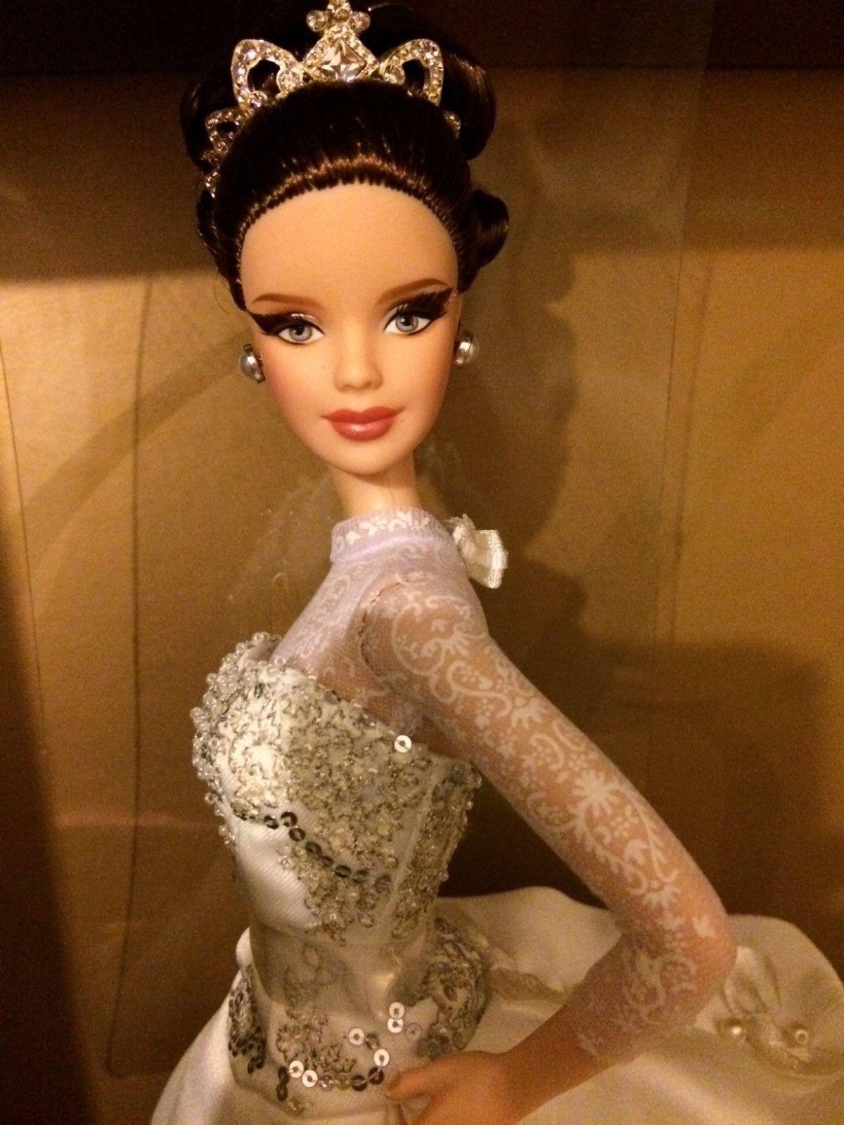 Gold label, Reem acra barbie doll | eBay | Barbies Brides Novias ...