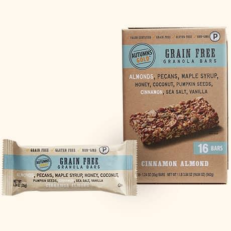 Grain Free Granola Bars Cinnamon Almond Autumn S Gold In 2020 Grain Free Granola Bars Grain Free Granola Granola