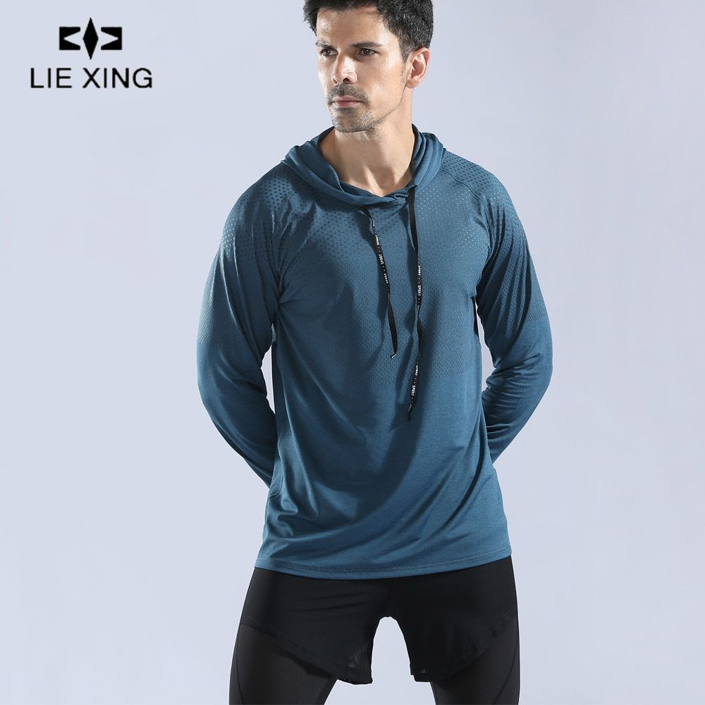 Men/'s Athletic Fitness Hoodies Long Sleeve Running Tops with Zipper Pockets Tee