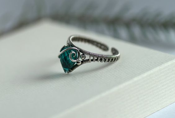 Briolette wire wrapped ring Новости | Jewelry Making | Pinterest ...