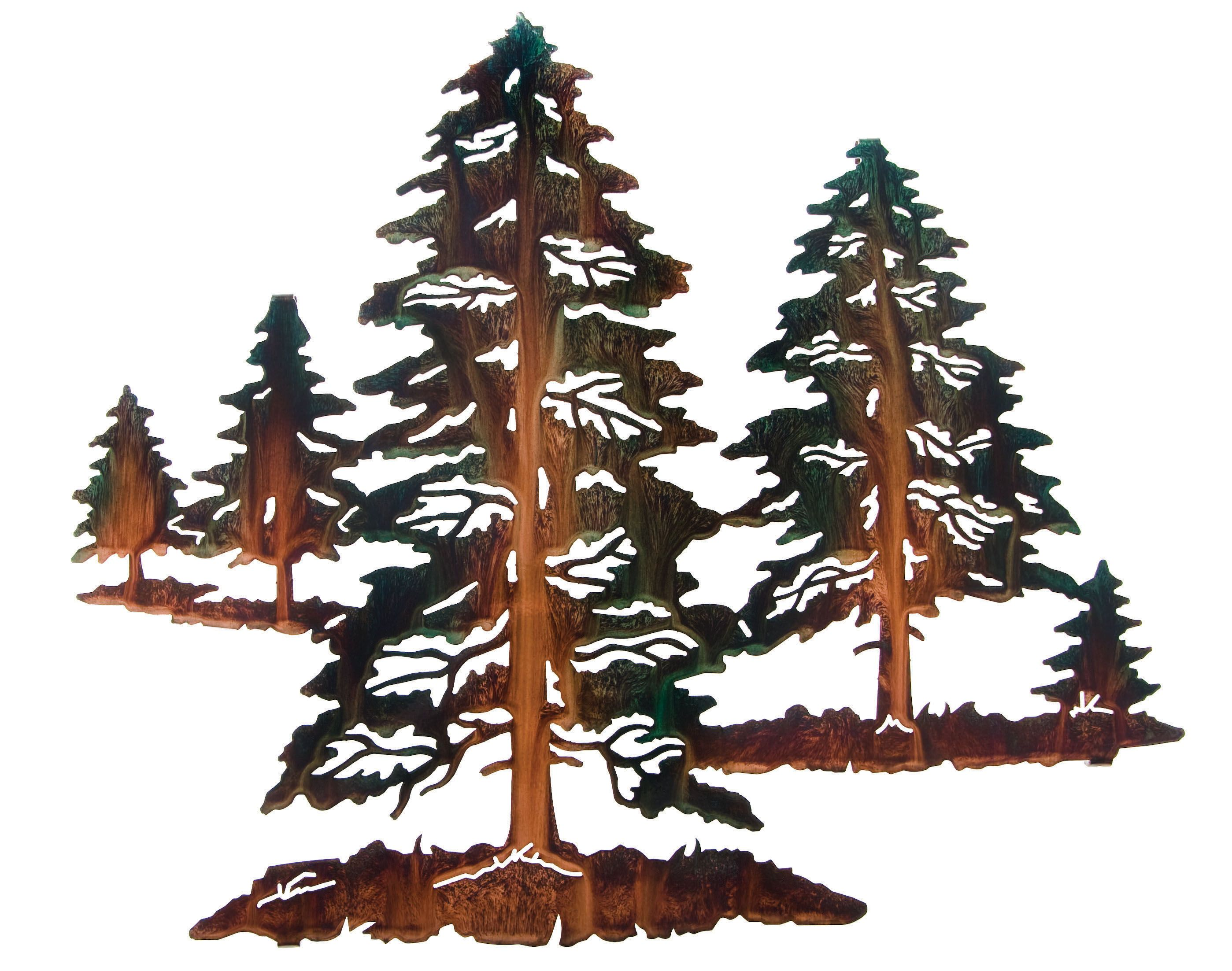 """18"""" Pine Tree Valley by Artist Neil Rose   Scroll saw ..."""