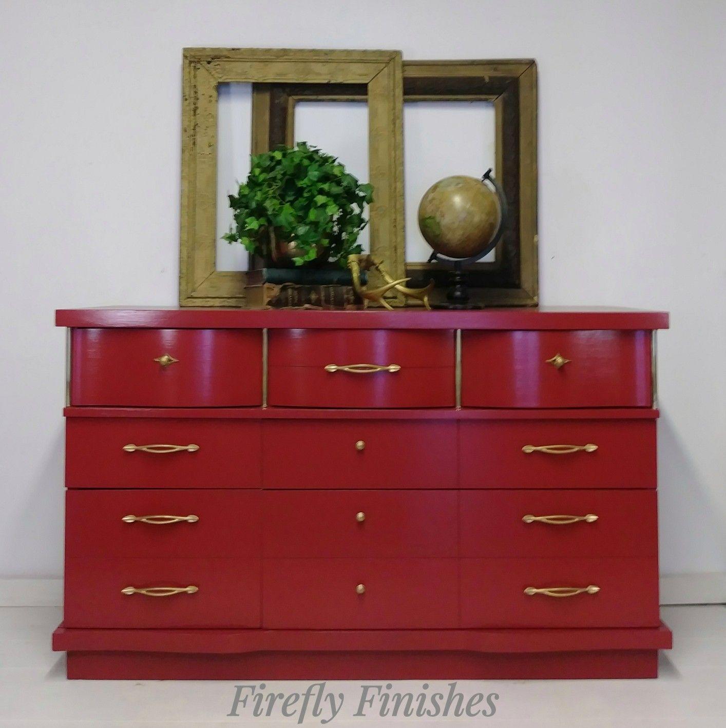 Beautiful Deep Red Dresser Red Dresser Decor Home Decor