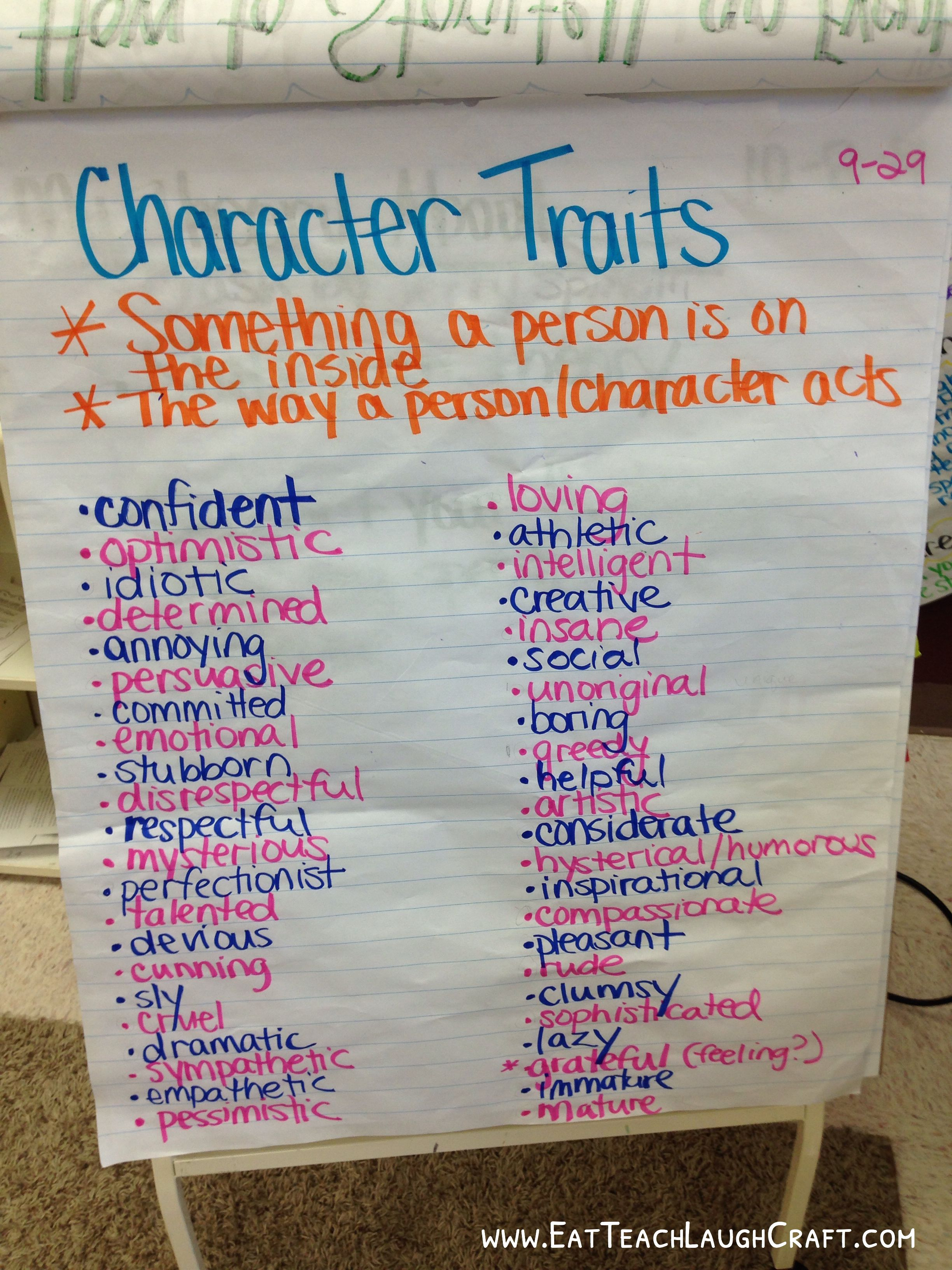 character traits anchor chart rd grade literacy  the entire compare and contrast essay using the compare object cmdlet a task based guide to windows powershell cmdlets saving and importing data