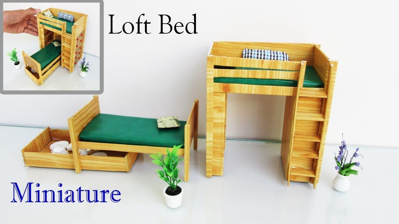 how to make mini furniture. Loft Bed | How To Make Miniature Realistic Furniture Easy Crafts Ideas Mini R